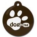 DogNTag psí známka s NFC hnědá