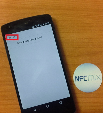 Pojmenujeme si NFC tag