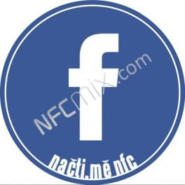 """NFC štítek Facebook """"f"""""""