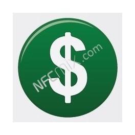 NFC štítek Dolar