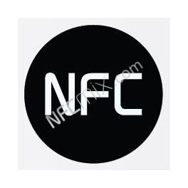 NFC černý NFC štítek
