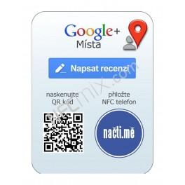 NFC štítek Google plus recenze