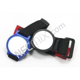 Textilní NFC náramek Ultralight zapínací červený