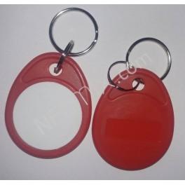 NFC klíčenka červenobílá